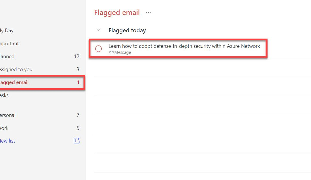 Flag Emails from Outlook to To Do with 1 Click