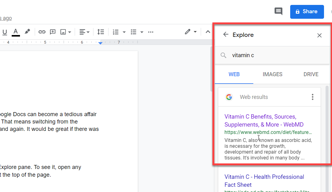 Save Time with Explore in Google Docs