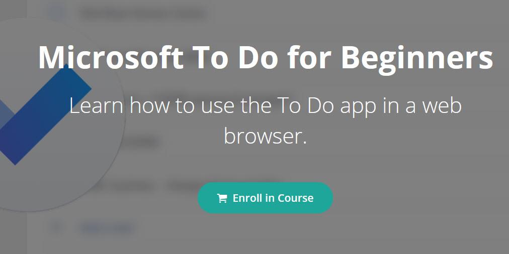 Microsoft To Do Training – 20% Discount