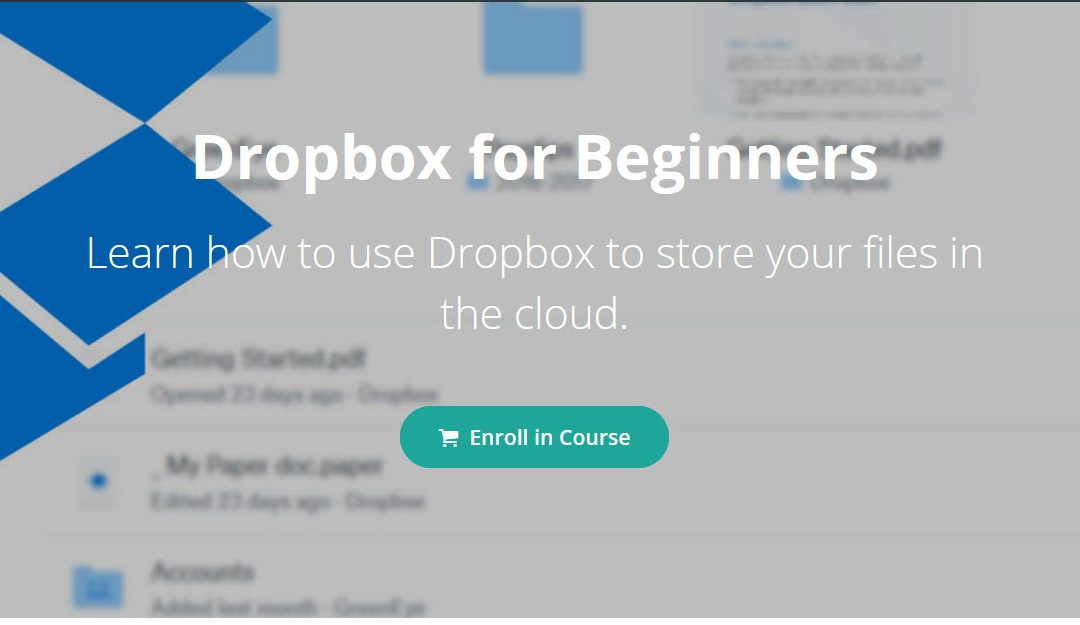 Beginners Dropbox Training – 20% Discount!