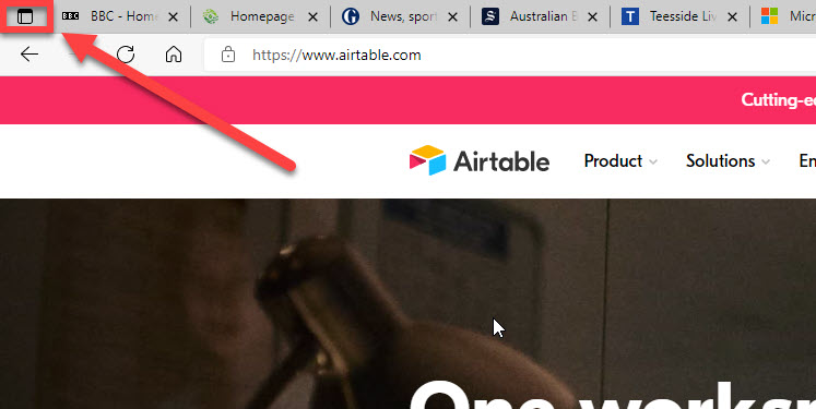 The vertical tabs icon.